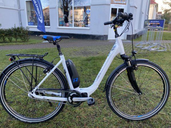 "E-Citray 3.0 / 28"" 7-Nexus Coaster, E5000/500Wh weiss/blau RH-50 - VORFÜHRBIKE"