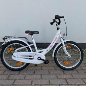 """Kinderrad PANTHER 1-Gang - 18"""", weiss-pink, RH 29 cm inkl. Seitenständer"""